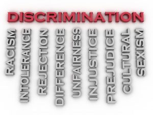 40214391 - 3d image discrimination issues concept word cloud background