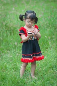 14382008 - little asian girl with mobile phone
